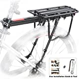 Fahrrad Gepäckträger Sattelstütz Für Fahrrad Mountainbike MTB Aluminium Fahrrad-Gepäckträger Hinten mit Reflektor