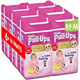 Huggies Pull-Ups Girls Day Time Pants Convenience Pack, Medium - 6 Packs (14 Pants Per Pack, 84 Pants Total)
