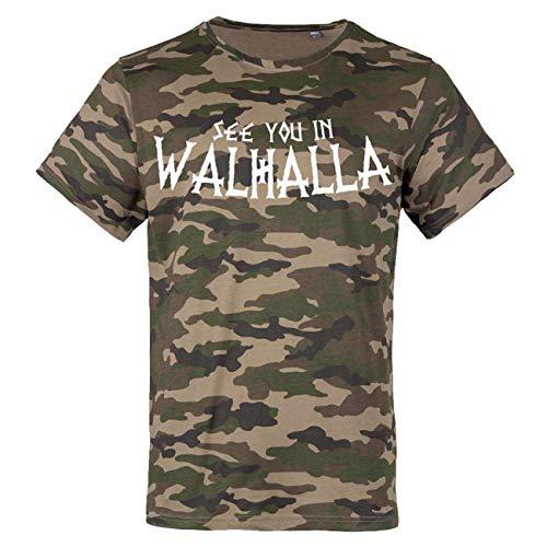 Männer und Herren Tarn T-Shirt Camo See You in Walhalla Größe S - 3XL