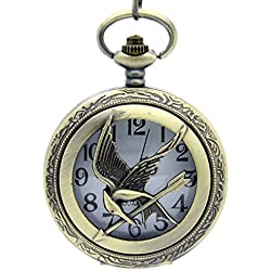 HG Antique Effect Pocket Watch Pendant Necklace