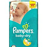 Pampers Baby Dry taille 4  + grand Lot de 168 couches