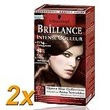 2x Schwarzkopf Brillance -Intense Couleur Schillerndes Rotbraun (878)/ brillanter Glanz/ Farbfrische/ Perfekte Grauhaarabdeckung/ Coloration/Haarfarbe