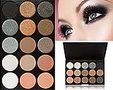 CINEEN 15 Farbe Lidschatten Palette - Professionell Schönheits Kosmetik Wasserdicht Eyeshadow-Nature Glow Schimmern Matt Augen Schatten Kit