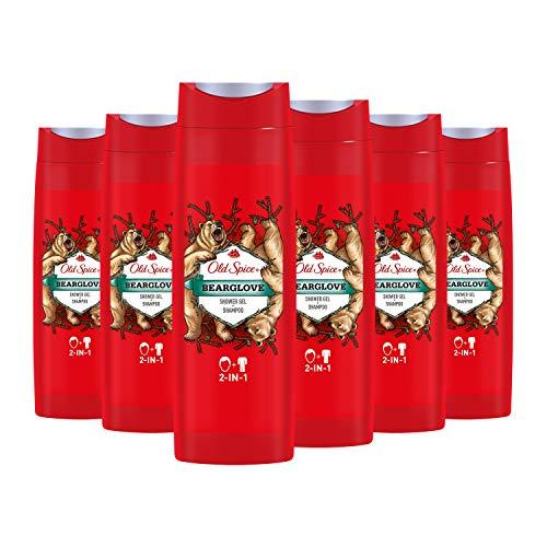 Old Spice Bearglove Duschgel und Shampoo, für Männer, 6er Pack (6x400 ml)