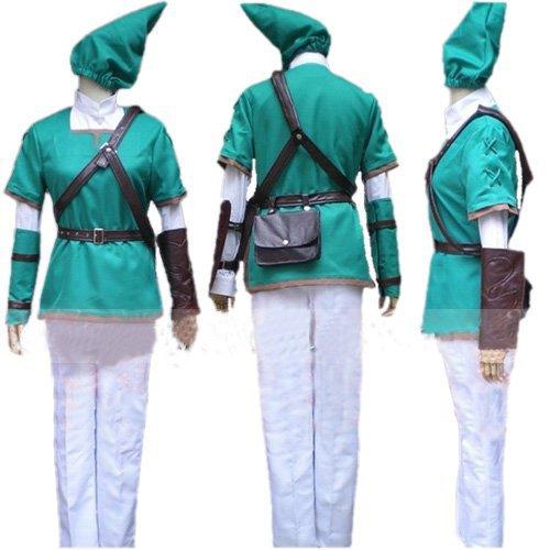 The Legend of Zelda Zelda Link Cosplay Kostüme Brauch(Mailen Sie uns Ihre Größe),Größe XXL:180-185 cm