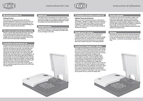 Trixie 24372 Futterautomat TX2, 2 x 300 ml, 27 x 7 x 24 cm, schwarz/granit