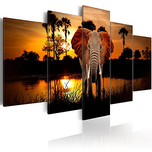 murando - Cuadro 100x50 - impresión de 5 Piezas en Material Tejido...