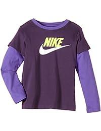 Nike Girl's 2 en 1 T-Shirt à manches longues Junior