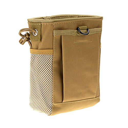 winomo Tactical Gear Bundles MOLLE Drawstring Magazin Dump Pouch Military Adjustable Belt Utility Hip Holster Bag Outdoor Pouch (Muddy)