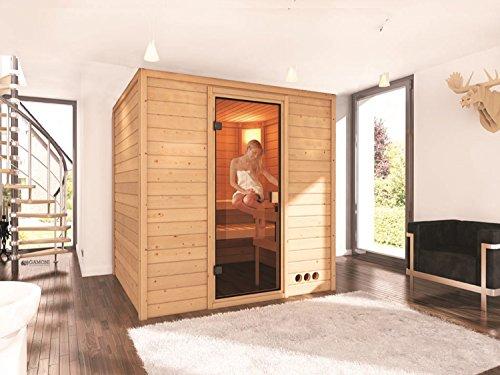 Massivholz Sauna Lieto 196cm x 170cm x 198cm