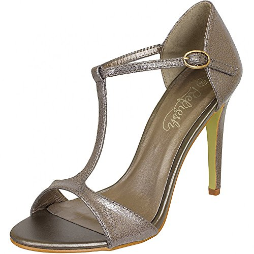 Refresh Shoes, Sandali donna Nero nero, Nero (bronzo), 37