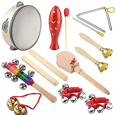 Strumenti Musicali per Bambini, Strumento Musicale Giocattoli,Kit di Strumenti Musicali 14 Pezzi?Percussion Set for Kids by easybuy