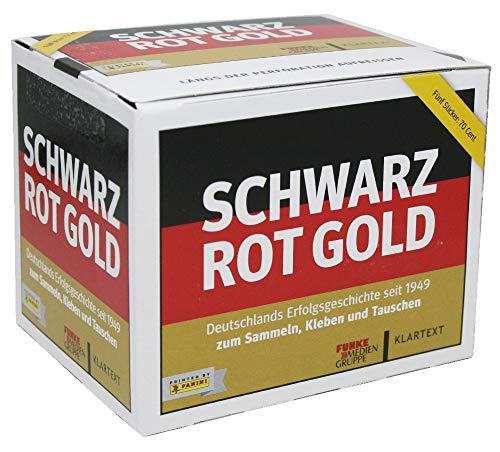 CAGO Unbekannt Schwarz Rot Gold - Sammelsticker - 1 Display (50 Tüten)