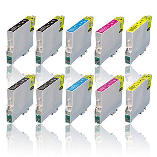 Preisvergleich Produktbild 10 Druckerpatronen für EPSON WorkForce WF2010W WF2500 WF2510WF WF2520NF WF2530WF WF2540NF WF2540WF WF2630WF WF2650DWF WF2660DWF, kompatibel zu T1636 T1631 T1632 T1633 T1634
