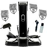 TronicXL Akku Haarschneider und Barttrimmer Set Haarschneidemaschine + 5x Aufsätze + Nasenhaar Trimmer + Rasierer Haar Schneide Maschine