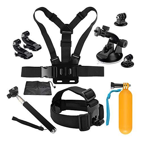 D&F Kit Accessoires Caméra Sport 10-1 pour GoPro Hero 7/6/5/4 / Hero (2018) Caméra SJCAM YI Crosstour AKASO et Autres caméras d'action