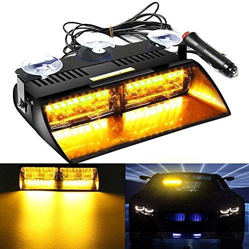 AMBOTHER-16-LED-Auto-Rundumleuchte-Signal-LED-Warnleuchte-Blinkleuchte-Lichtbalken-Blitzleuchte-Hohe-Intensitt-Recht-Durchsetzung-Stroboskoplicht-Warnblitzleuchten-18-Strobe-Muster-fr-Trger-Auto