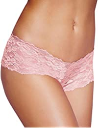 luckyemporia Women Pants Knickers Underwear Boxer Briefs Thongs G String Pink Lace Shorts Lingerie