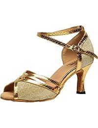 SWDZM Chaussures de danse pour hommes Chaussures de danse latines standard Chaussure en cuir véritable modèle AF-103 44 EU