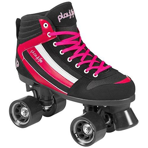 "Playlife Damen Rollerskates / Rollschuhe ""4 Wheeler Groove Woman"" schwarz (200) 42"