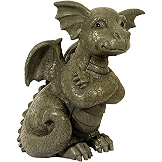 Garden figure Garden dragon with cross arms