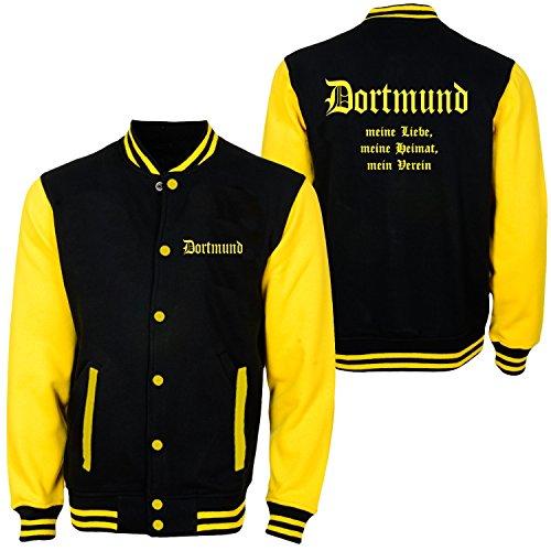 Preisvergleich Produktbild Dortmund - meine Liebe,meine Heimat,mein Verein - College Jacke (XL)