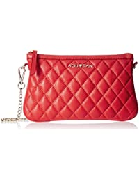 Aquatan Women's Chain My Heart Chained Small Leather Sling Bag Bright Red AT-S-42