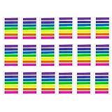 JZK 2128 Stück Mini Haftmarker bunt Haftnotizen transparent Page Marker Kunststoff Index Tabs Klebezettel Notizzettel zum Studium Büro, Dekorations Zubehör zum Geschenk