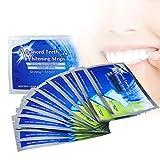 WoodyKnows Zahnweiß Streifen White Stripes 28 Stück, professionelle Zähne Bleaching Gel Strip Effektive Zahnpflege-Kit