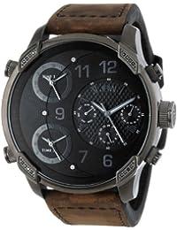 JBW J6248L-K - Reloj de cuarzo para hombre, correa de cuero color marrón