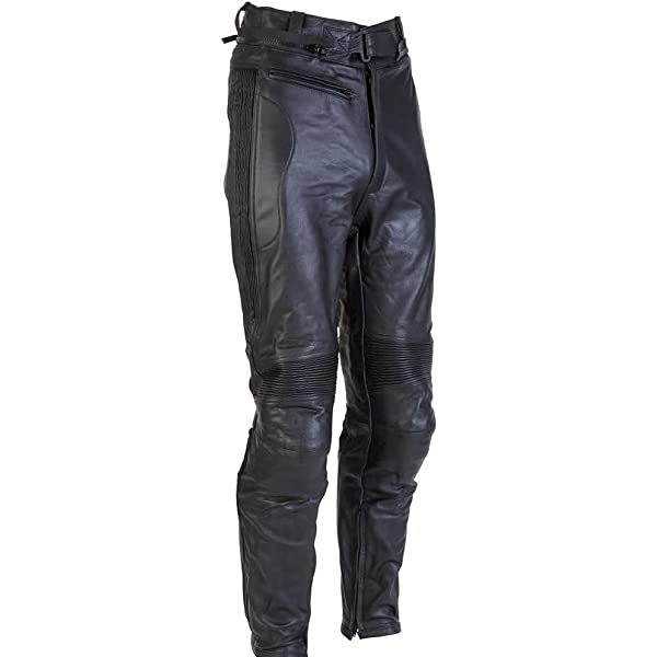 SPADA CLASSIC MOTORCYCLE LEATHER ROAD TROUSERS BLACK