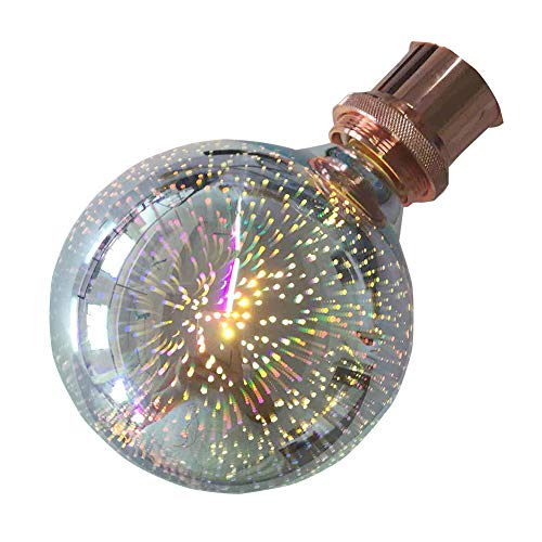 Firework Bulb,XinRong New Globe LED Decorative Sparkle 3D Firework  Lightbulb E27 220V 1 5W Indoor Restaurant Bar Decor Light Lamp 2000-2200K  (G125)