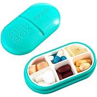 Reise Pill Box Vitamine Medizin Tablet Veranstalter Fall 6 Fächer Lagerung für Reise Reise Reise (blau) preisvergleich bei billige-tabletten.eu