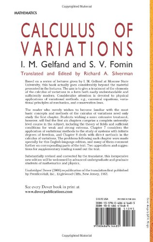 Isarel M. Gelfand:Calculus of Variations
