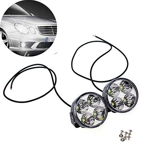 bbring 2x 4Runde LED-DRL Tagfahrlicht Driving Auto Nebel Licht Lampen Birnen-Set Set Cree Led Light Bar Kit