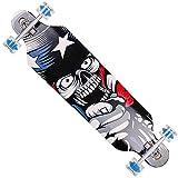 FunTomia Longboard Skateboard Drop Through Cruiser Komplettboard mit Mach1 High Speed Kugellager T-Tool mit und ohne LED Rollen - 9