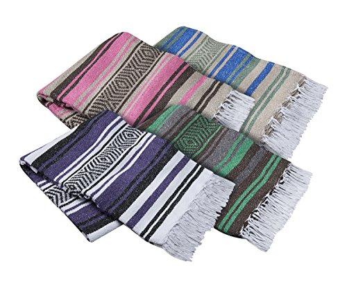 El mocajete Marke Traditionelle Mexikanische Decke für Yoga, Strand, Picknick, Stadion oder Hunde Bett, unisex, sortiert