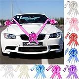 Time to Sparkle TtS 5 Nœuds + 7M Ruban Mariage Voiture Kit Décoration Ribbon Emballage Cadeau, Cerise