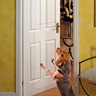 """Deluxe Pet Door Scratch Shield, Heavy Duty Flexible Door Guard Cover Protect Your Doors & Walls, Large Clear Door Scratch Protector (36.5"""" L X 17"""" W)"""