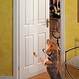 Deluxe-Kratzschutz für Haustiertüren, strapazierfähig, flexibel, schützt Türen und Wände, große transparente Tür-Kratzschutz