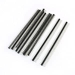 10 Pcs 2.54mm Pitch 40 Position Single Row Pin Straight Headers