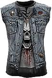 Spiral T-shirt sans manches pour homme Motif Trash Metal Noir