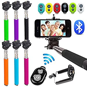 selfie stick mit bluetooth fernausl ser hand teleskop. Black Bedroom Furniture Sets. Home Design Ideas