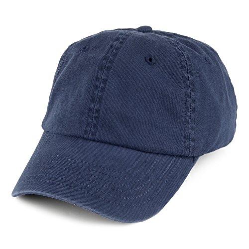 Casquette Vintage en Coton Bleu Marine - Bleu Marine - Ajustable
