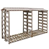 vidaXL Holzunterstand Kaminholzregal Brennholzregal 300x100x176 cm Kiefernholz