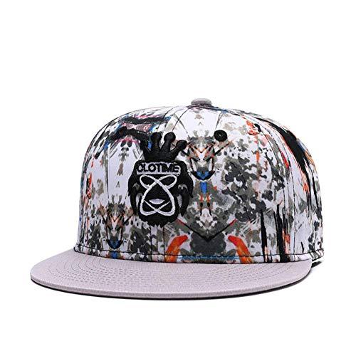 WYKDA Gestickter Hysteresenhut Graffiti-Hip-Hop-Trucker-Hüte-Männer und die Nette laufende Sport-Sun-Baseballmützen der Frauen Graffiti-trucker Hut