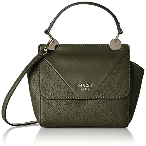 Guess Cammie Petite Crossbody Flap Borsa a Spalla, Donna, Verde (Olive)