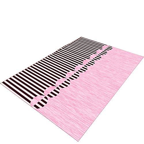 Yxsd Rosa Kinderteppich, Wildleder Balkon Schlafzimmer Baby Cartoon Teppich , Größe optional (größe : 120×160cm) -