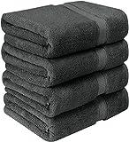 Utopia Towels - Lot de 4 Serviettes de bain en 100% Coton - 69 x 137 cm, 600 GSM...