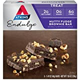 Atkins, Endulge, Noix de Brownie fondant, 5 barres, 1,4 oz (40 g) de chaque